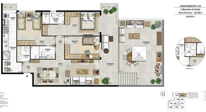 Apartamento 103  - Fachada - Residencial Payssandu - 56 - 21