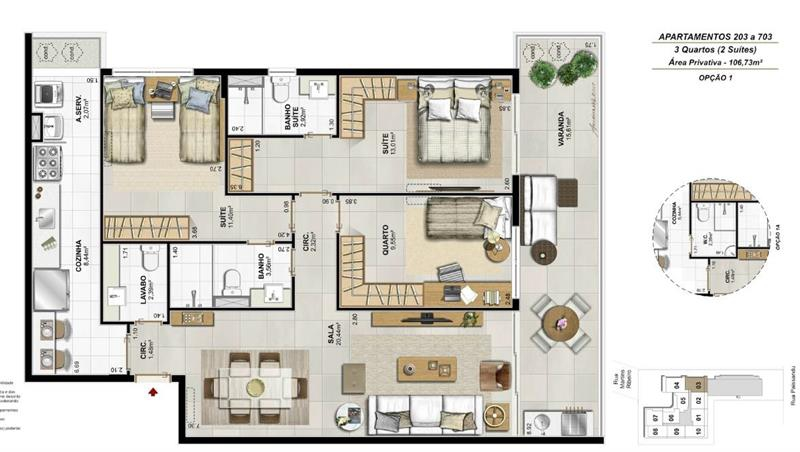 Apartamento 103 a 703 - Fachada - Residencial Payssandu - 56 - 26