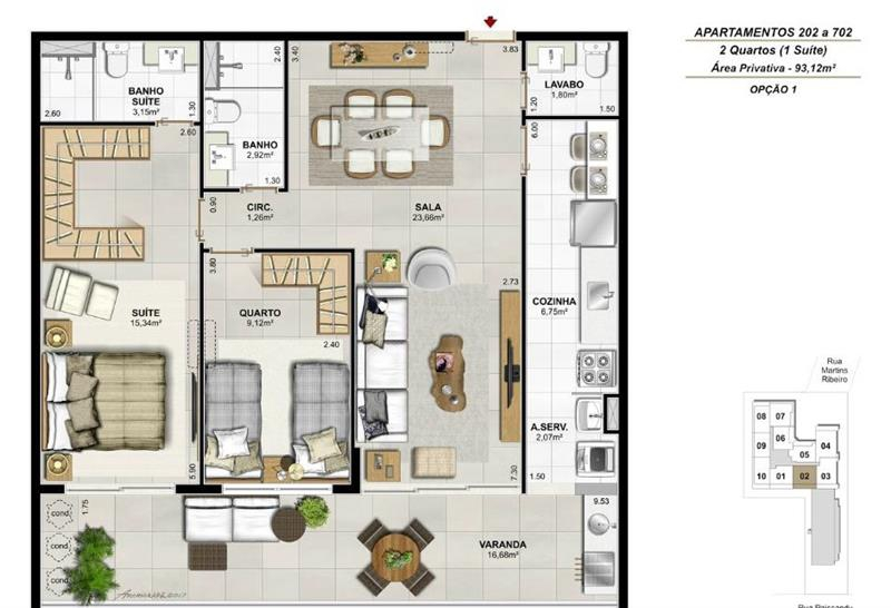 Apartamento 202 a 702 - Fachada - Residencial Payssandu - 56 - 25