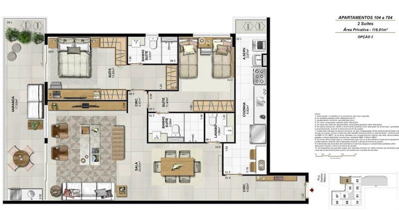 Apartamento 104 a 704 - Fachada - Residencial Payssandu - 56 - 27
