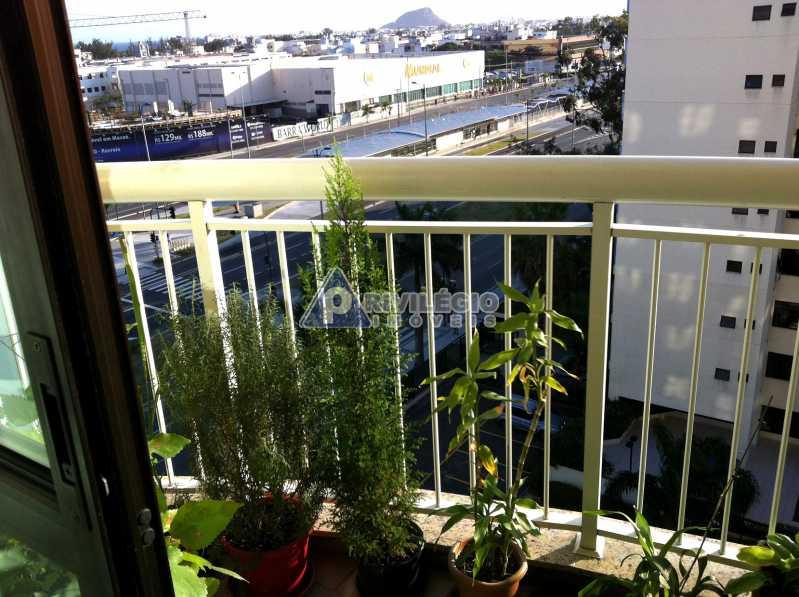 varanda - Apartamento À VENDA, Recreio dos Bandeirantes, Rio de Janeiro, RJ - LAAP20182 - 3