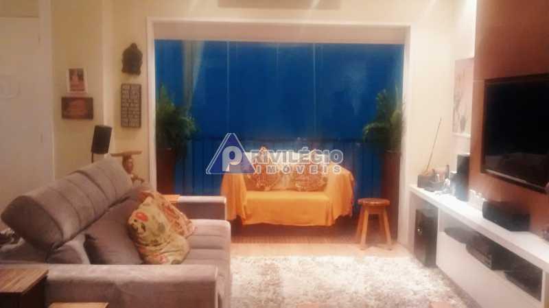 Sala 1 quarto-Porteira Fechada - Apartamento À Venda - Lagoa - Rio de Janeiro - RJ - BTAP10538 - 1