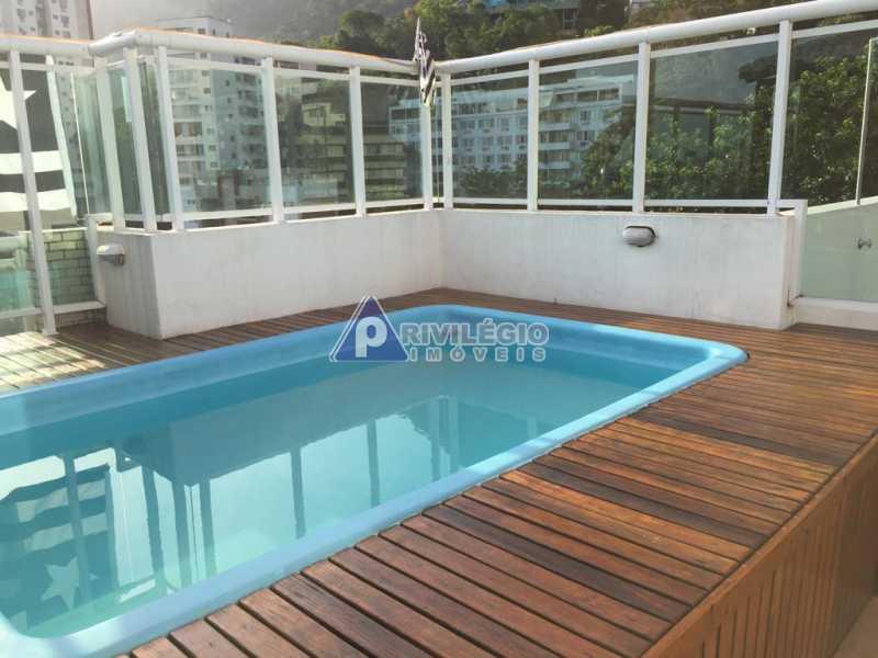 78B0A380-B984-4745-9493-7A1270 - Jardim Botânico! Cobertura duplex, com aproximados 273m², 3 vagas escrituradas. Terraço com piscina, deck molhado e churrasqueira. - BTCO30107 - 3