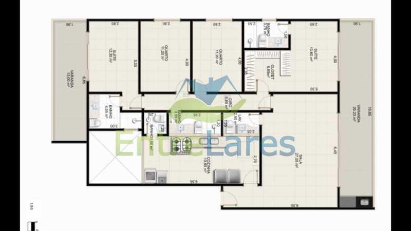 E1 - Apartamentos primeira locação no Jardim Guanabara, 4 quartos sendo 2 suítes master com closet, varandas, 3 vagas de garagem, prédio com piscina. Avenida Francisco Alves. - ILCO40009 - 15