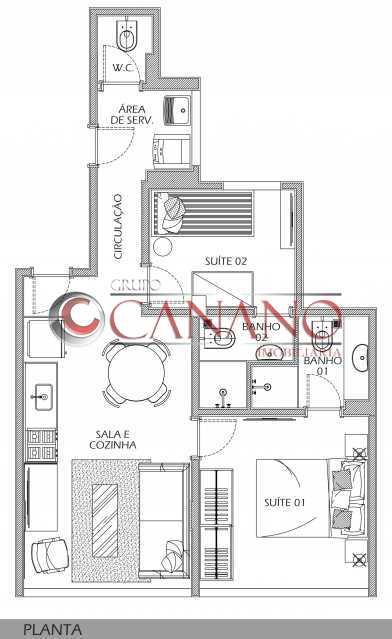 26 - Apartamento à venda Rua Real Grandeza,Botafogo, Rio de Janeiro - R$ 599.000 - BJAP20162 - 24
