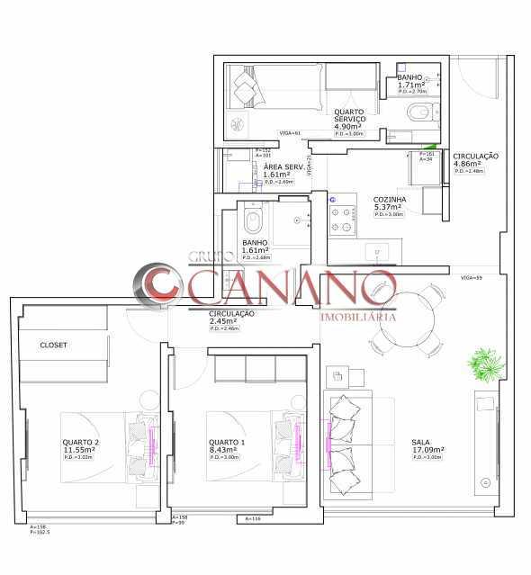 7ccad2e5fc36c425-PLANTA 1 - Apartamento 2 quartos à venda Copacabana, Rio de Janeiro - R$ 849.000 - BJAP20846 - 11