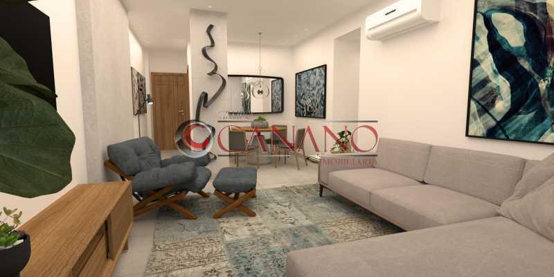 1 - Apartamento à venda Rua Visconde de Caravelas,Botafogo, Rio de Janeiro - R$ 790.000 - BJAP20934 - 1