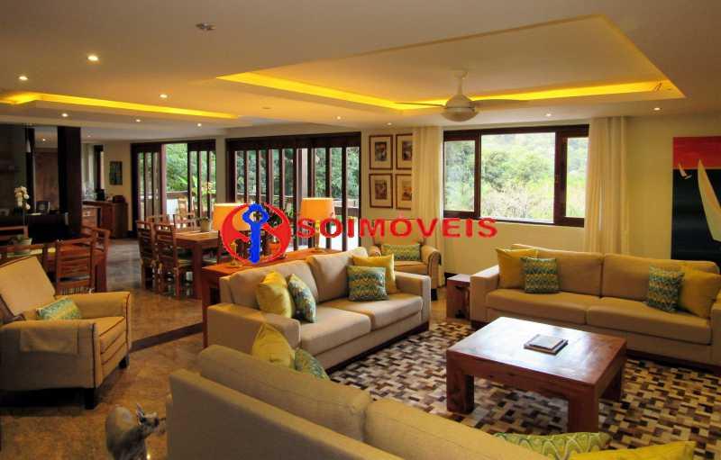 living 1 - Casa 5 quartos à venda Rio de Janeiro,RJ - R$ 4.400.000 - LBCA50038 - 4