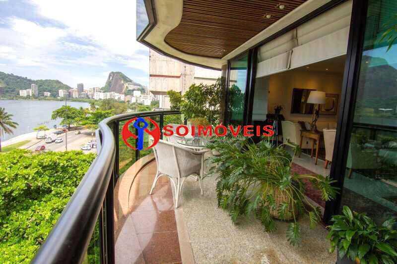 1 - Espetacular cobertura em Ipanema Frontal Lagoa com vista cinematográfica em um dos prédios mais modernos e luxuosos da orla da Lagoa. - LBCO40281 - 1