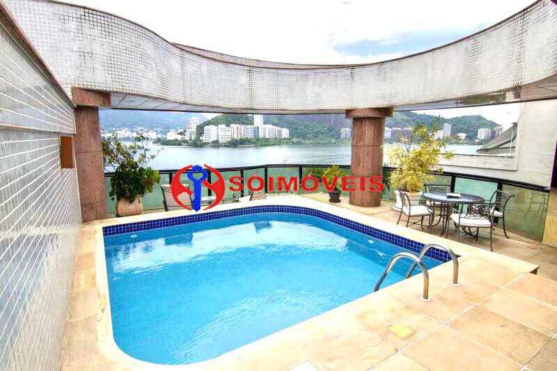2 - Espetacular cobertura em Ipanema Frontal Lagoa com vista cinematográfica em um dos prédios mais modernos e luxuosos da orla da Lagoa. - LBCO40281 - 3