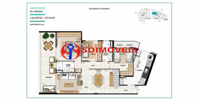 apartamento-vc-open-gallerydes - Cobertura 4 quartos à venda Laranjeiras, Rio de Janeiro - R$ 2.641.550 - LBCO40288 - 15