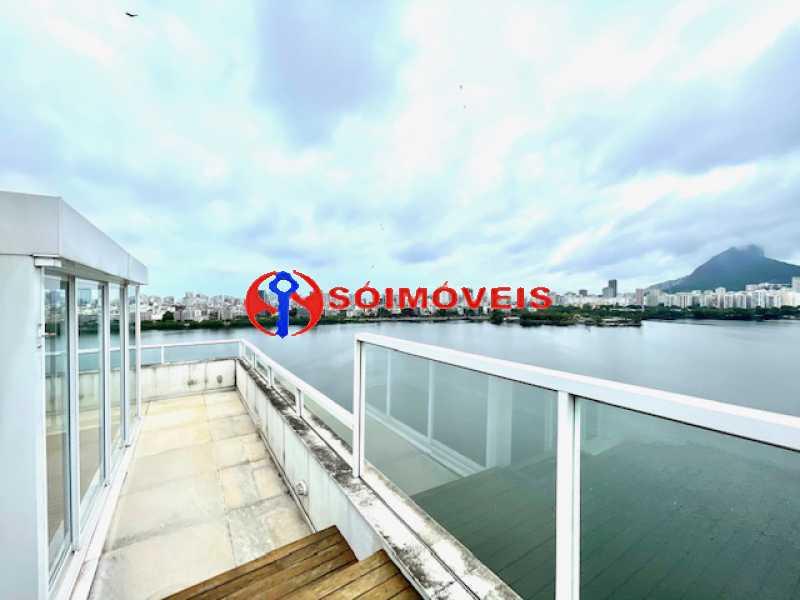 19 - Ampla cobertura duplex com espetacular vista Lagoa - LBCO40302 - 20