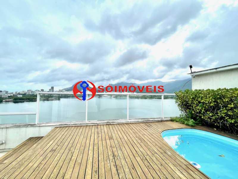 20 - Ampla cobertura duplex com espetacular vista Lagoa - LBCO40302 - 21