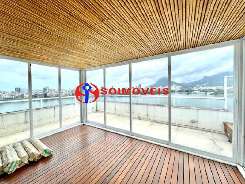 22 - Ampla cobertura duplex com espetacular vista Lagoa - LBCO40302 - 23