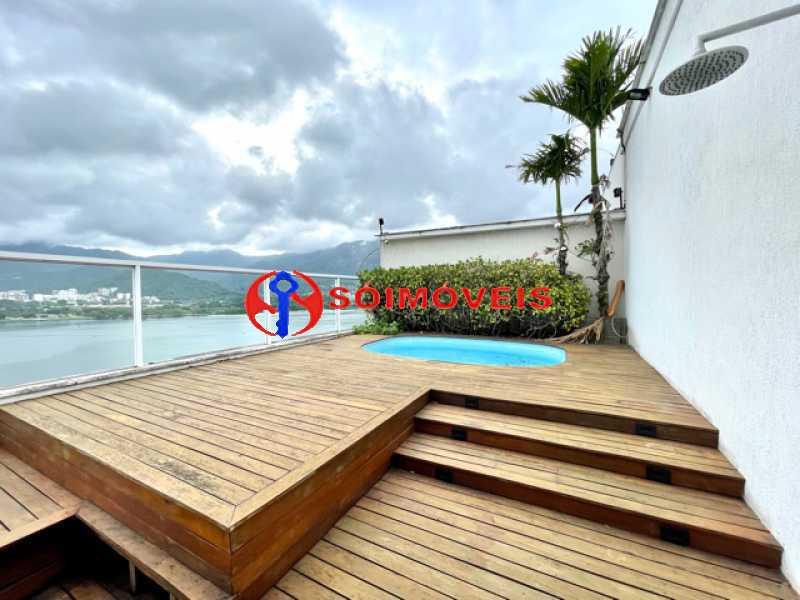 18 - Ampla cobertura duplex com espetacular vista Lagoa - LBCO40302 - 19