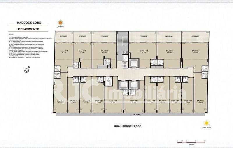 sala-comercial-planta-paviment - Sala Comercial 26m² à venda Tijuca, Rio de Janeiro - R$ 239.000 - MBSL00099 - 27