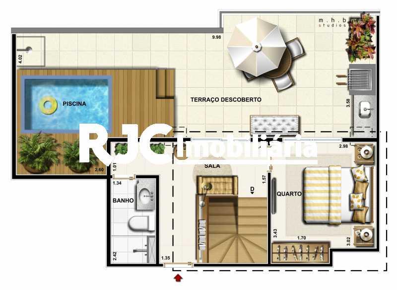 16 - Cobertura 3 quartos à venda Recreio dos Bandeirantes, Rio de Janeiro - R$ 766.500 - MBCO30254 - 30