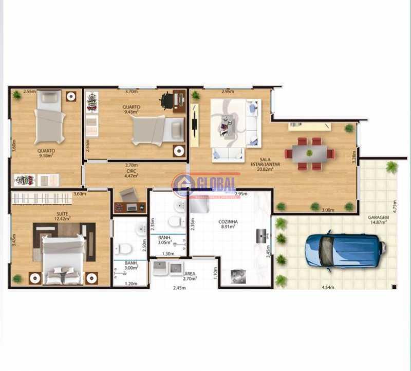 7c19e068-3687-47fa-b885-d3dbab - Casa em Condomínio 3 quartos à venda Retiro, Maricá - R$ 330.000 - MACN30125 - 3