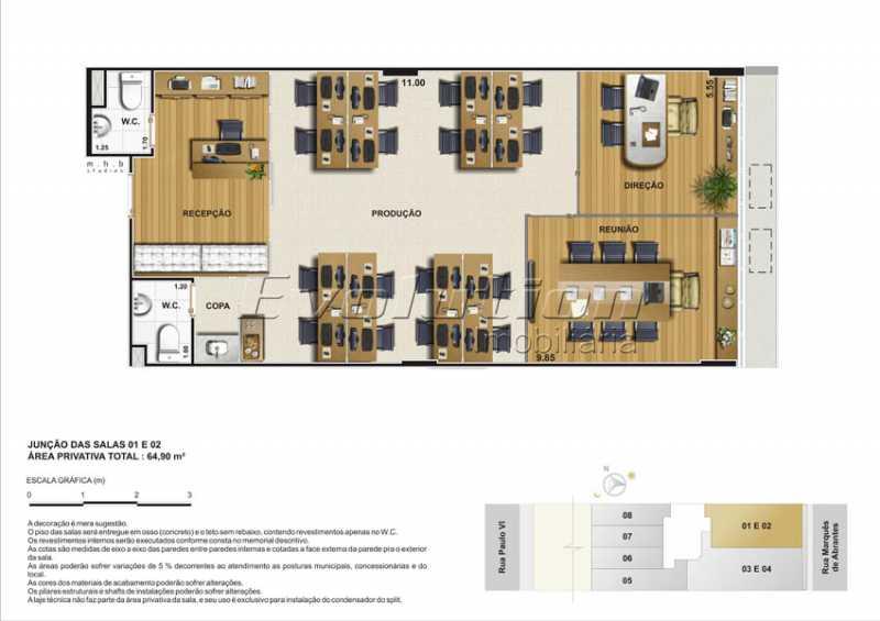 Plantas-2 - Sala Comercial 300m² à venda Flamengo, Rio de Janeiro - R$ 3.127.500 - SSSL00103 - 8