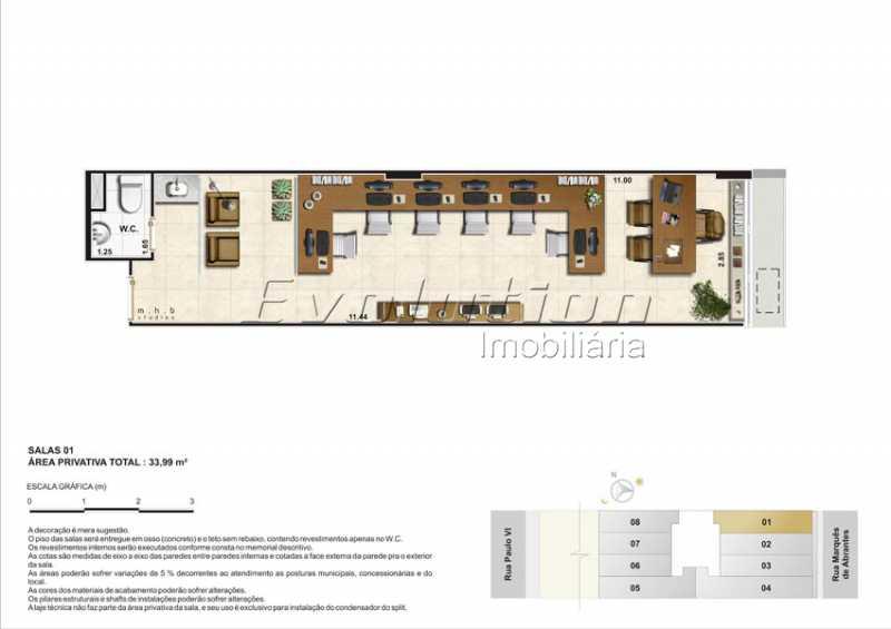 Plantas-4 - Sala Comercial 300m² à venda Flamengo, Rio de Janeiro - R$ 3.127.500 - SSSL00103 - 9