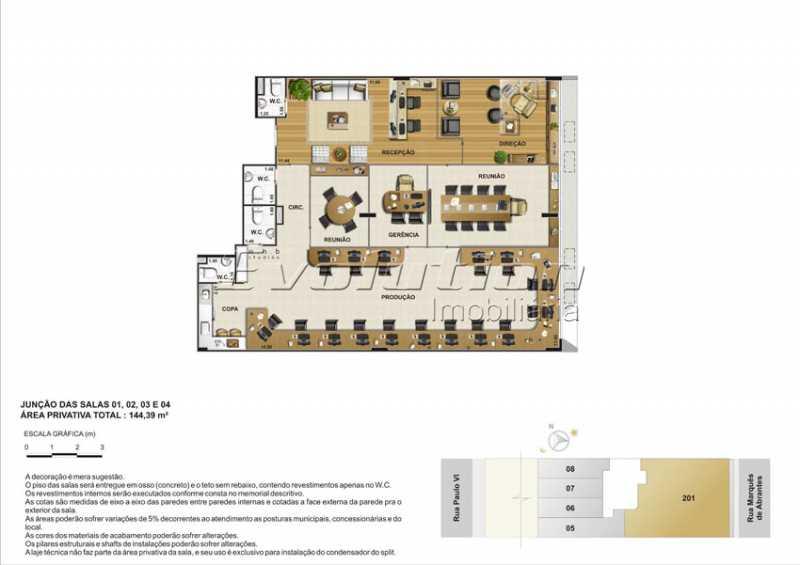 Plantas-7 - Sala Comercial 300m² à venda Flamengo, Rio de Janeiro - R$ 3.127.500 - SSSL00103 - 10