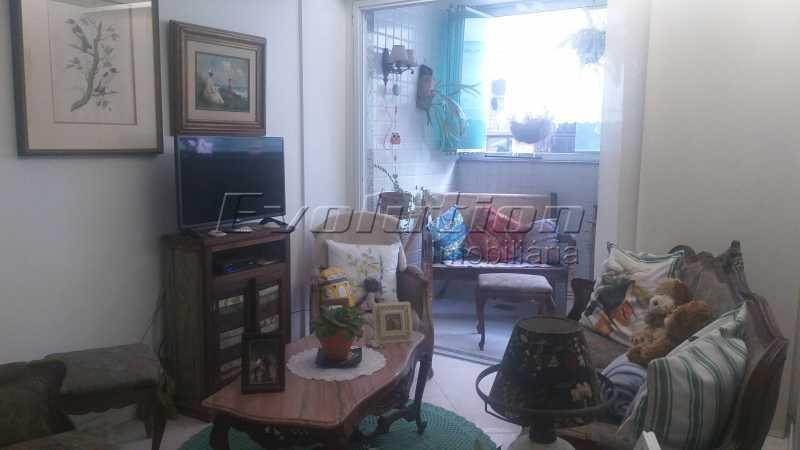 Sala de estar - Apartamento 85 m² na gleba B do Recreio dos Bandeirantes. - EBAP30018 - 3
