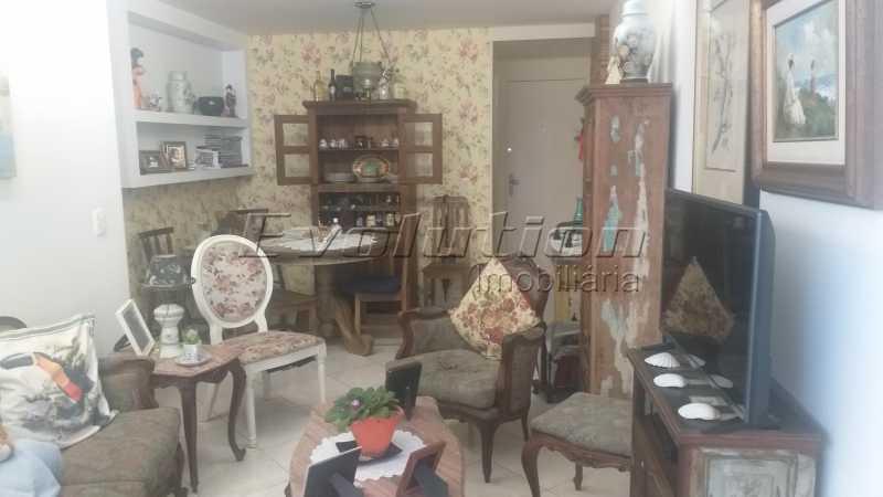 Sala - Apartamento 85 m² na gleba B do Recreio dos Bandeirantes. - EBAP30018 - 1