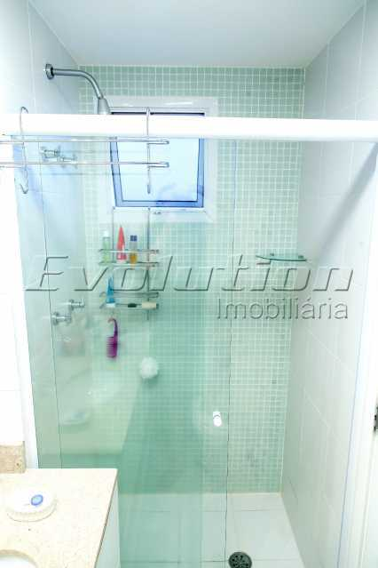 Banheiro suíte - Apartamento a venda no condomíno Blue das Américas. - EBAP30032 - 19