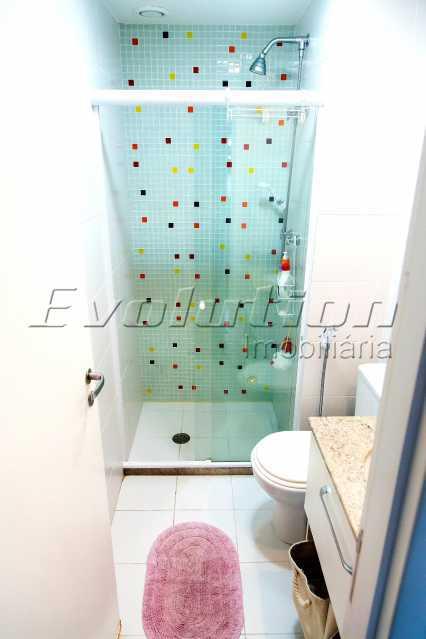 Banheiro social - Apartamento a venda no condomíno Blue das Américas. - EBAP30032 - 9