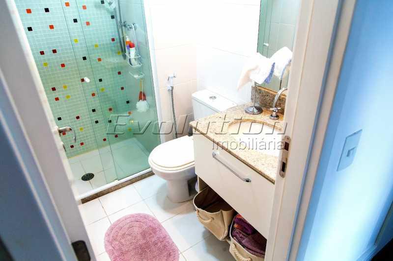 Banheiro social - Apartamento a venda no condomíno Blue das Américas. - EBAP30032 - 10