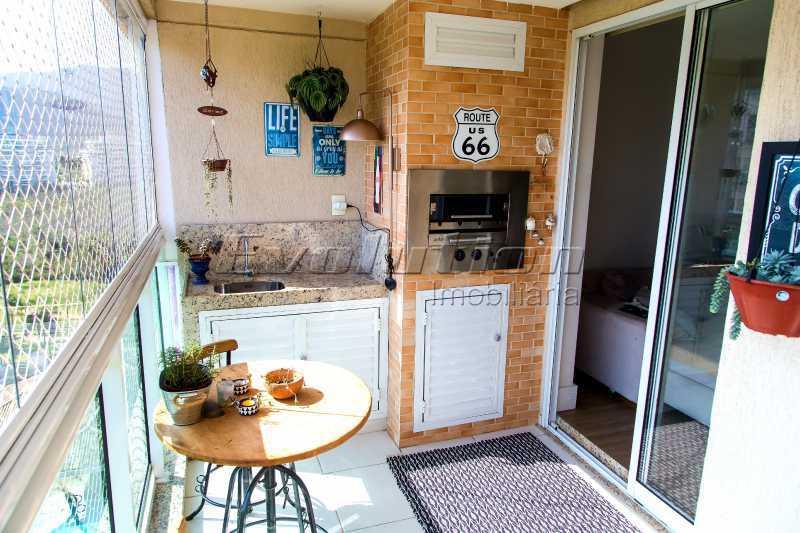 Varanda Gourmet - Apartamento a venda no condomíno Blue das Américas. - EBAP30032 - 7