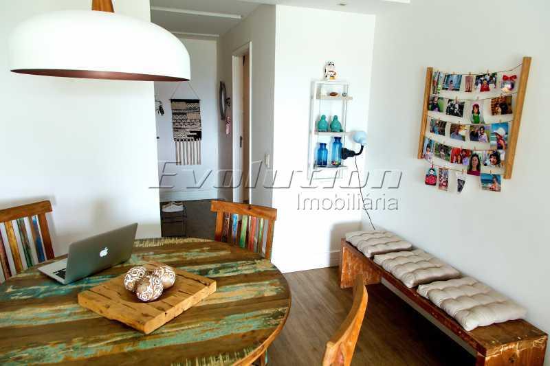 Sala dois ambientes - Apartamento a venda no condomíno Blue das Américas. - EBAP30032 - 5