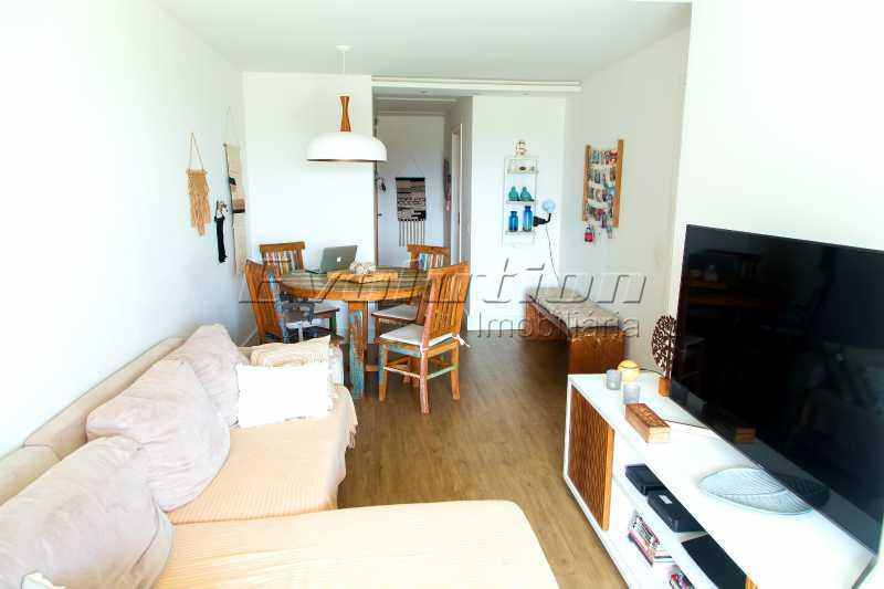 Sala dois ambientes - Apartamento a venda no condomíno Blue das Américas. - EBAP30032 - 6