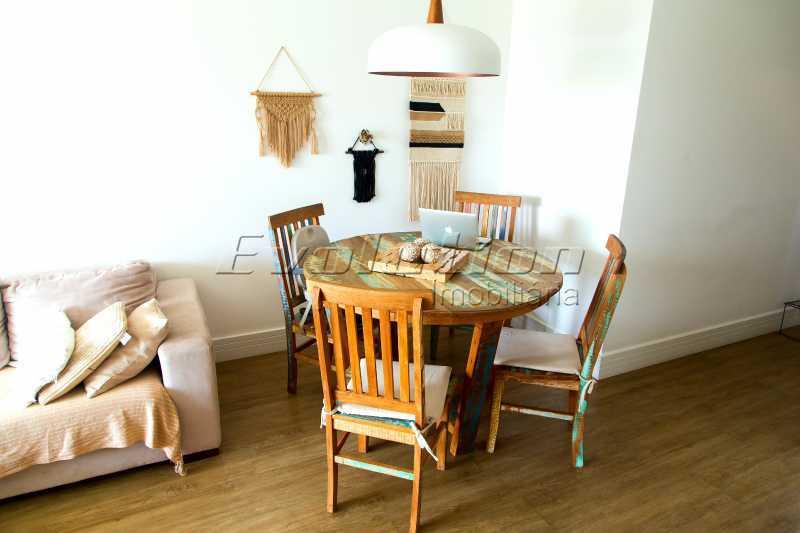 Sala dois ambientes - Apartamento a venda no condomíno Blue das Américas. - EBAP30032 - 4