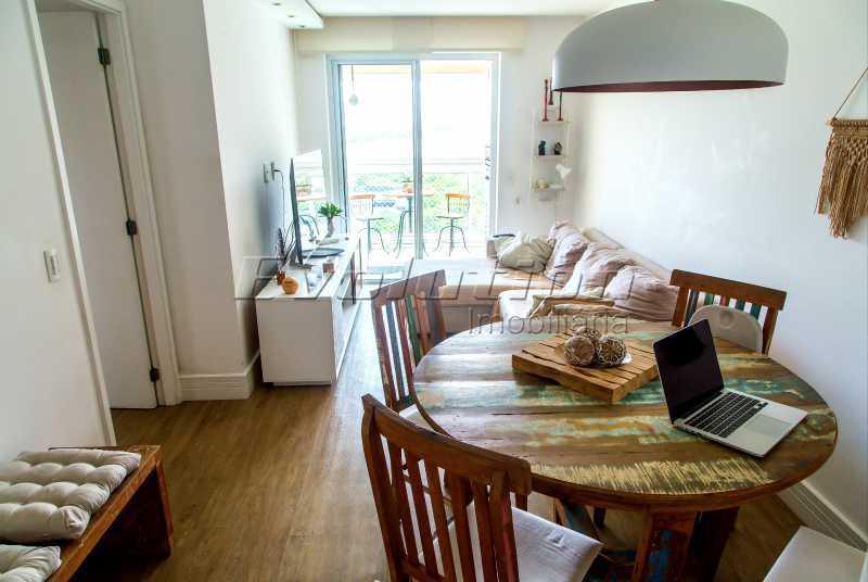 Sala dois ambientes - Apartamento a venda no condomíno Blue das Américas. - EBAP30032 - 3